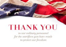 Military Thanks Greeting Card